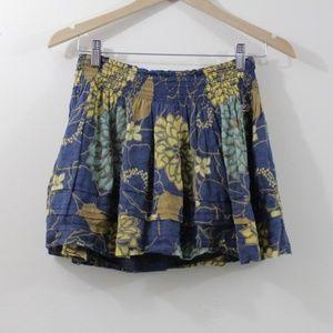 Floral Hollister mini skirt